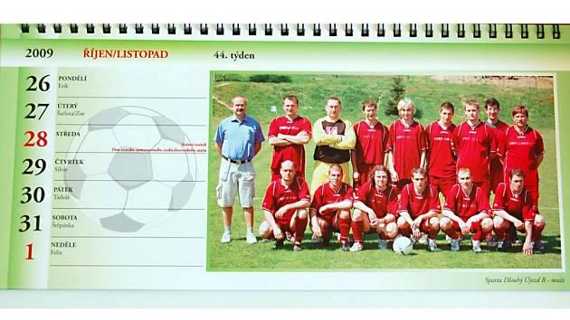 Stolní kalendář Okresního fotbalového svazu Tachov na rok 2009.