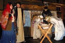 Ve Stříbře se konal živý betlém.
