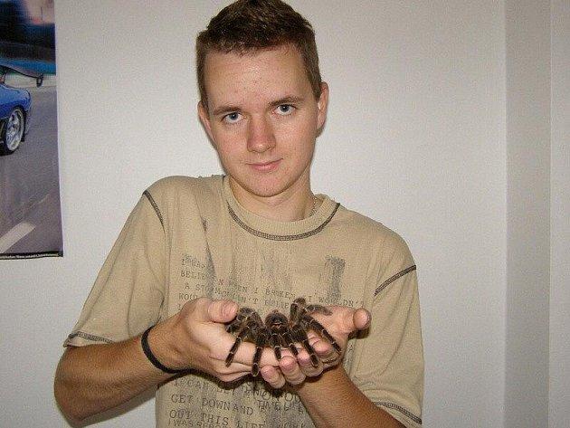 Osmnáctiletý student obchodní akademie Martin Kreysa ze Stříbra má rád zvířata.