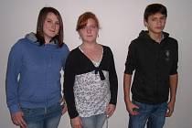 DANIELA S DAVIDEM a jejich nová sestřička Zuzana (uprostřed).