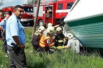 DOPRAVNÍ NEHODA se stala v pátek kolem půl druhé odpoledne na silnici mezi Planou a Černošínem.