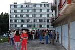 Ubytovna byla kvůli výbuchu plynového kotle evakuována.