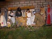 Oživlý betlém a lampionový průvod ve Stříbře.