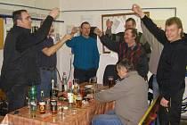 Oslava vítězství Zdeňka Štybara ve Stříbře