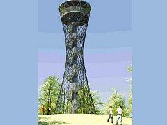 TAKTO BY MĚLA vypadat rozhledna na vrchu Vysoká v Tachově podle vizualizace architektonického studia Hysek.