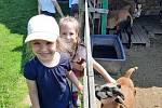 Děti se těšily do Pohádkového statku, krmily zvířata a hrály si