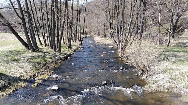 Krajina kolem soutoku Mže a Hamerského potoka