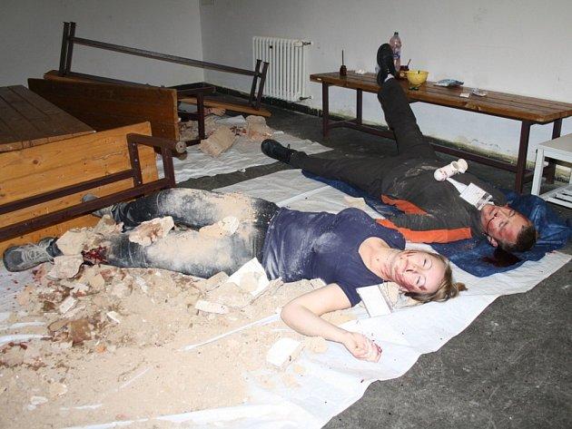 Prověřovací cvičení záchranářů Plzeňského kraje se konalo v Tachově.