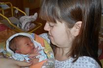 Kryštof Krhoun z Tachova se v domažlické porodnici narodil ve středu 1. Března osm minut po půlnoci mamince Marii a tatínkovi Milanovi. Kryštůfek vážil 3.02 kg a měřil 47 cm.