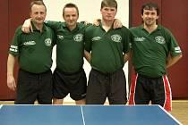 Stolní tenisté Slavoje dvakrát vyhráli
