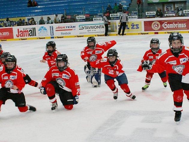 Mladí hokejisté HC Tachov sledovali mistrovství světa a fandili našim reprezentantům