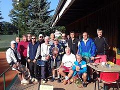 Z tenisového turnaje veteránů v Tachově.