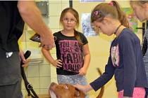 Školáci se zúčastnili besedy s názvem Bezpečný pes.