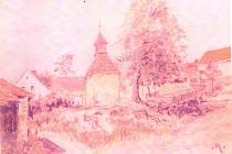 Žádná fotografie, která by dokládala, jak kaplička vypadala, se nedochovala. Její podobu zřejmě vystihuje tento obrázek neznámého autora, signovaný písmenem M.