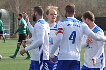 Fotbalisté Baníku Stříbro na archivním snímku ze zápasu jarní části sezony 2020.