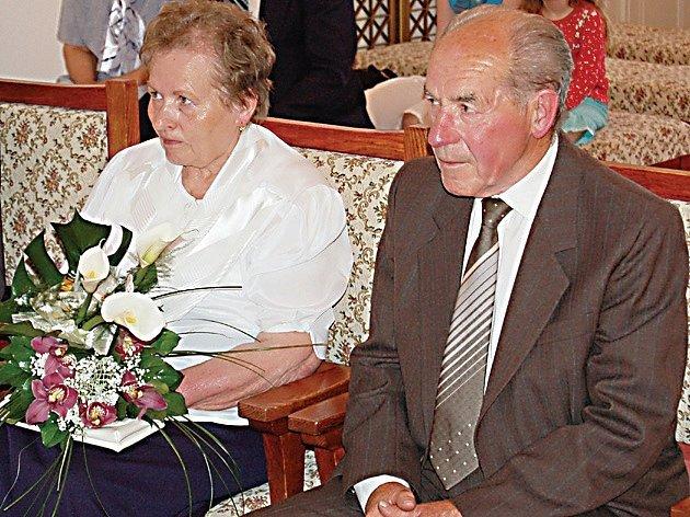Oldřich a Věra Stručkovi oslavili spolčných padesát let.