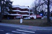 Nedělní zásah hasičů u jídelny v Tachově.