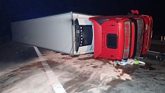 Dopravní nehoda kamionu blokovala úsek na 116.km dálnice D5.