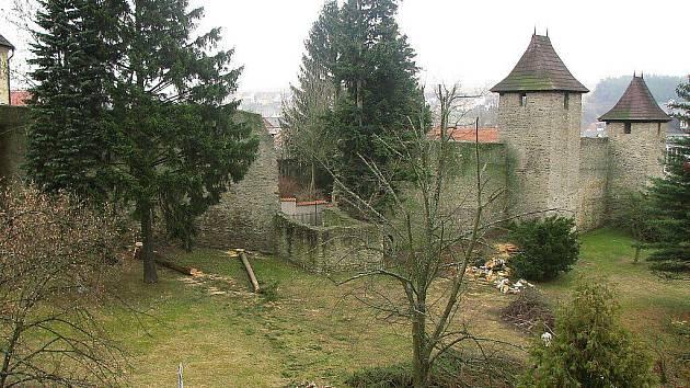 Stromy ohrožovaly hradby