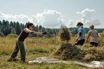 Dobrovolníci z devíti zemí celého světa sekají louky v Českém lese a bydlí v tee-pee
