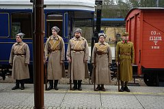 Na stříbrském vlakovém nádraží se usídlil Legiovlak.