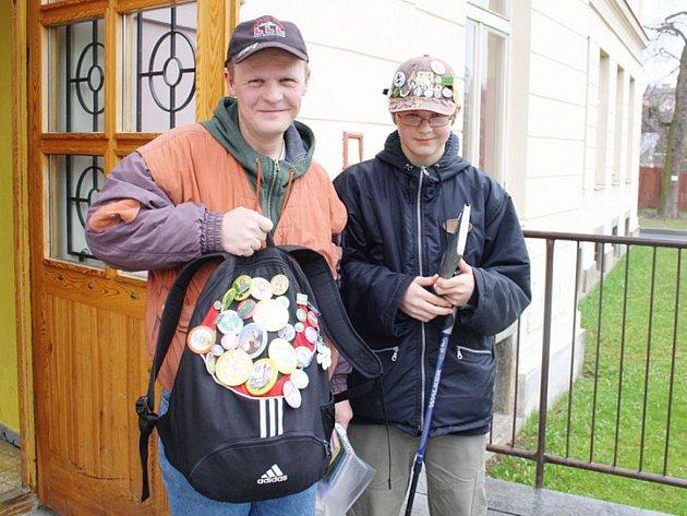 Pěší tůru si prošli Pavel a Dominik Herejtovi (zleva), na pochod přijeli až z Plzně