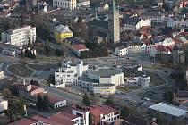 Letecké snímky Tachova.