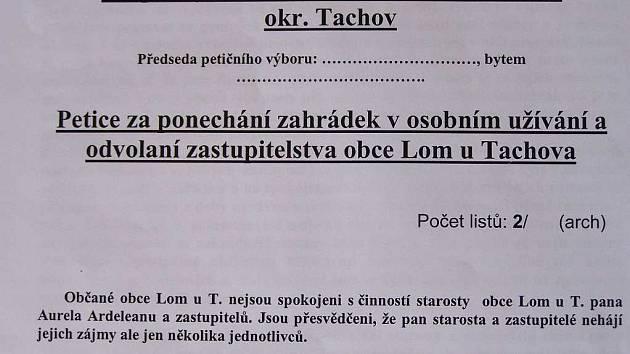 Petiční arch