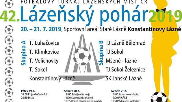 Fotbalisty čeká 42. ročník Lázeňského poháru