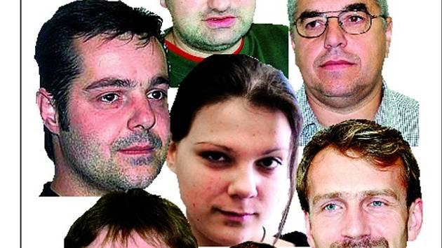 Redaktoři TD (zleva po směru hod. ruček) Jaroslav Veselý, Jiří Kohout, František Hlas, Antonín Hříbal, Miloš Němec, Václav Šimek. Hana Štorkupová (uprostřed).