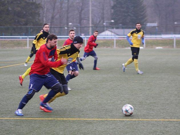 Z utkání Sparta Dlouhý Újezd - Start Bělá.