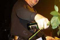 Michal David přijel zazpívat na šibřinky do Stříbra.