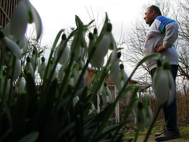 Miloslav Netrh z Čečkovic  se podivuje nad předčasným příchodem jara.