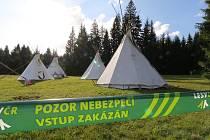 Z tábora tachovských skautů.