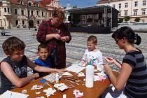 Děti tvořily ve Stříbře na náměstí