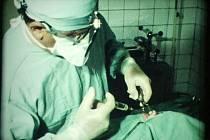 NEMOCNICE PLANÁ. Dobový snímek z roku 1982 přibližuje práci chirurgů v plánské nemocnici. Natočil ho František Soukup a promítnut bude spolu s dalšími filmy z Konstantinolázeňska, Pernolce i Havany.