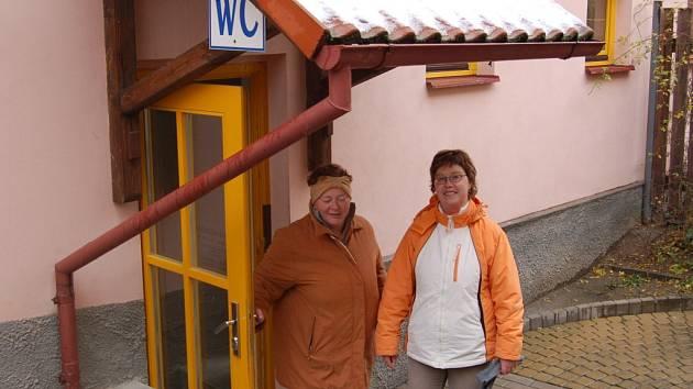 Veřejné WC v Kostelní ulici v Tachově.