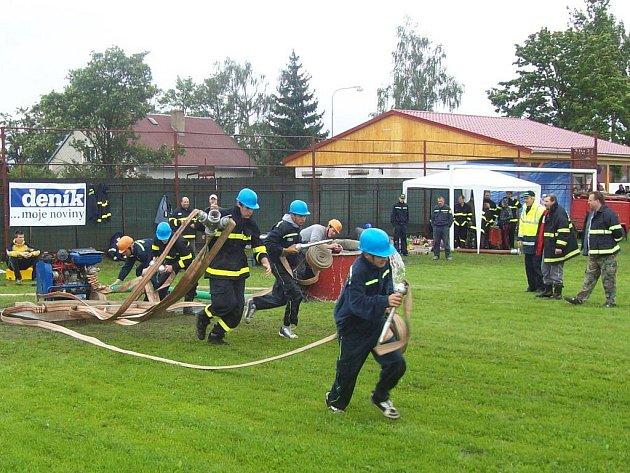 ODSTARTOVÁNO. Hasiči z Nahého Újezdce takto v sobotu vybojovali druhé místo.