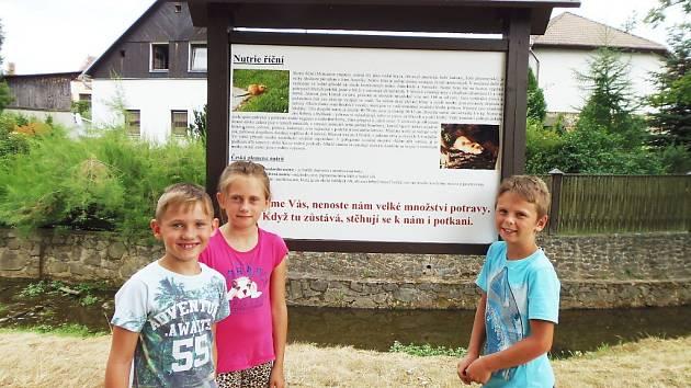 Nutrie chodí v Černošíně pozorovat také Jan Frank, Míša Franková a Filip Kettner.