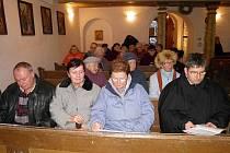 Adventní setkání v kostele v Okrouhlém Hradišti.