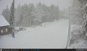 Středisko zimních sportů Silberhütte. Pohled z webkamery Zdroj slz-silberhuette.org