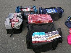 204 kartonů cigaret s běloruskými kolky.