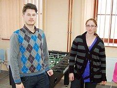 Pracovníci Nízkoprahového klubu, Michal Kandler a Hana Kovaříková