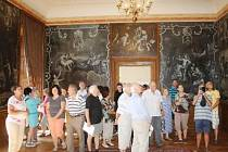 ZÁMEK VE SVOJŠÍNĚ byl nominován nejen za celkovou rekonstrukci, ale především za záchranu pláten, která byla kompletně restaurována. Návštěvníci je poprvé viděli letos v srpnu.