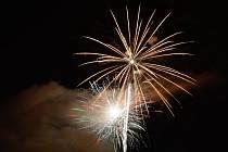 Novoroční ohňostroj v Kladrubech