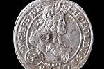 Tříkrejcar nalezený ve sklepě stříbrského kláštera.