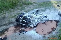 Tragická nehoda motorkáře u Janova.