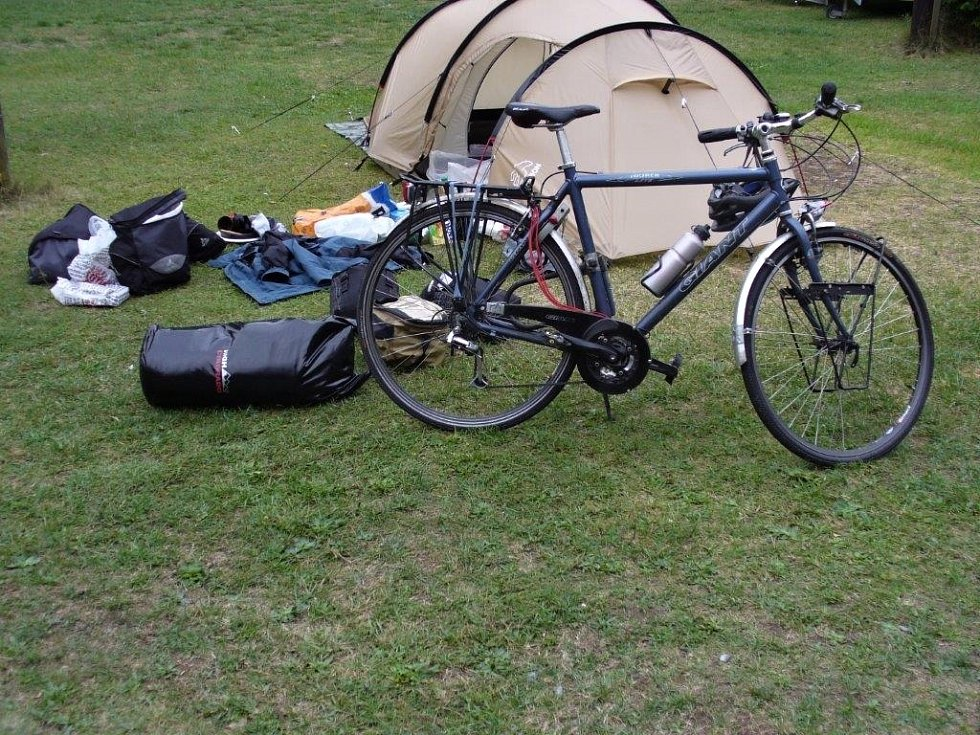 Cyklo-léto v kempu Karolina Dolina pod Planou.