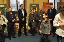 Slavnostní zahájení výstavy výtvarných prací žáků ZUŠ v Senátu PČR.