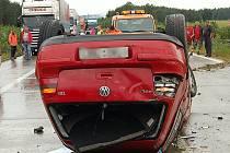 Nehoda zablokovala dálnici na celé dopoledne
